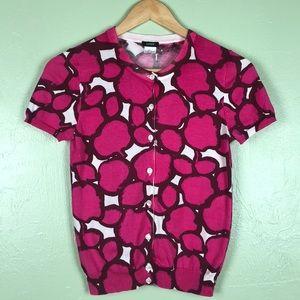 J. Crew Pink Short Sleeve Cardigan Size XS